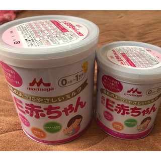 モリナガニュウギョウ(森永乳業)の森永 E赤ちゃん 粉ミルク 大缶・小缶(その他)