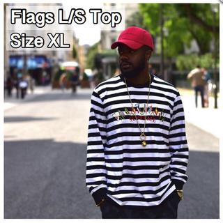 シュプリーム(Supreme)の【XL】 Flags L/S Top(Tシャツ/カットソー(七分/長袖))
