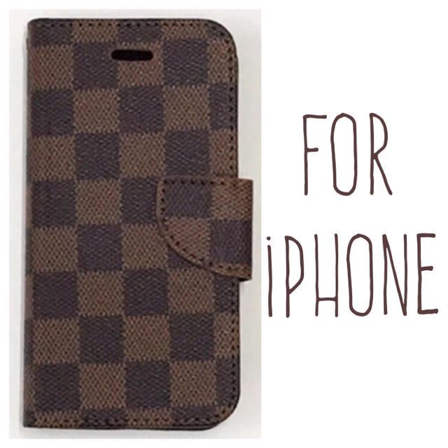 送料無料!茶 iPhoneケース iPhone8 7 plus 6 6s 手帳型の通販 by 質の良いスマホケースをお得な価格で|ラクマ