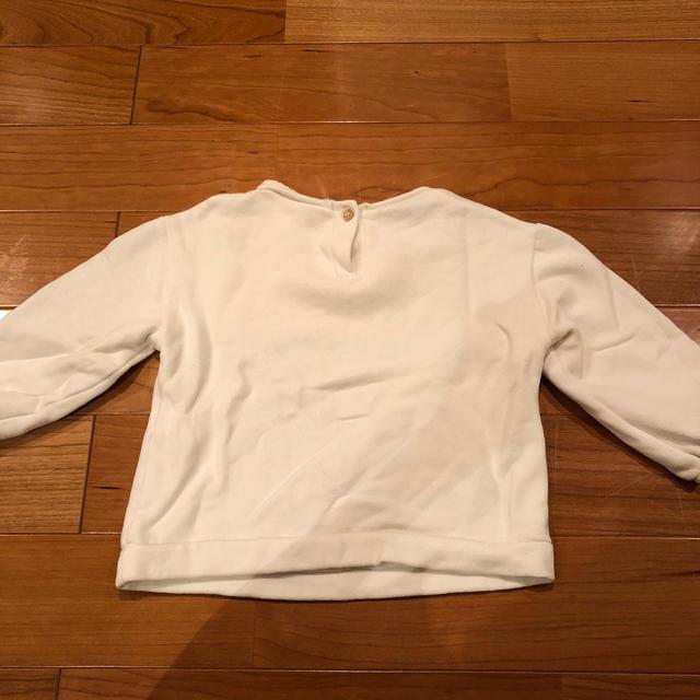 ZARA(ザラ)のZARA キッズ スウェット トレーナー ミニーちゃん💕2〜3歳用  キッズ/ベビー/マタニティのキッズ服 女の子用(90cm~)(Tシャツ/カットソー)の商品写真