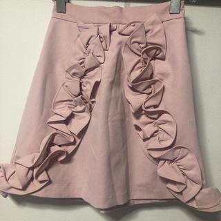 メリージェニー(merry jenny)のメリージェニー ピンクフリルスカート(ひざ丈スカート)
