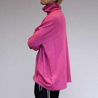 CRAY TOKYO ドローコード ハイネック ロングスリーブ TシャツPINK(Tシャツ/カットソー(七分/長袖))