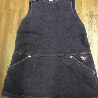 ギャップ(GAP)のデニム風 ジャンパースカート 90cm(ワンピース)
