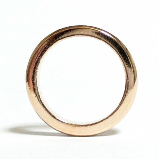 17号 フルエタニティ スワロフスキー ピンクゴールドリング レディースのアクセサリー(リング(指輪))の商品写真