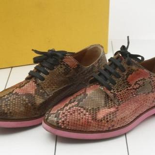 フェンディ(FENDI)のFENDI フェンディ パイソン シューズ 靴 36.5 正規品(ハイヒール/パンプス)