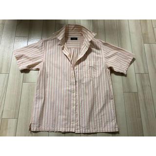 マンシングウェア(Munsingwear)のマンシング シャツ ボーダー ストライプ オレンジ ポケット付き(Tシャツ/カットソー(半袖/袖なし))