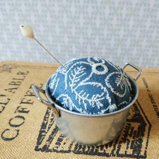 ミナペルホネン(mina perhonen)のsometimes lucky ブルー ピンクッション ミナペルホネン(その他)