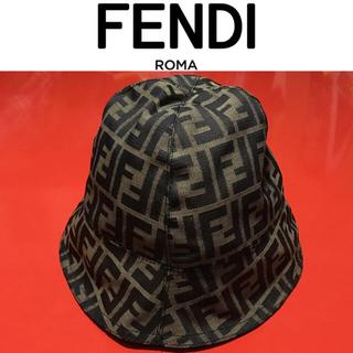 フェンディ(FENDI)のFENDI バケットハット フェンディ ズッカ柄 帽子 ヴィンテージ ロゴ(ハット)