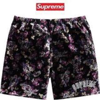 シュプリーム(Supreme)のSupreme 19AW Floral Velour Shorts Mサイズ(ショートパンツ)