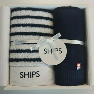 シップス(SHIPS)の《新品・今治産》シップス/フェイスタオル1枚 & ウォッシュタオル1枚セット(タオル/バス用品)