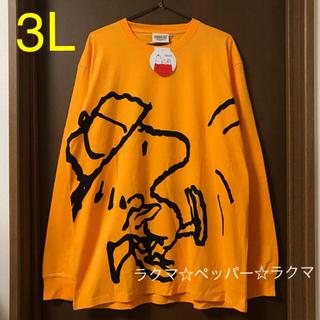 スヌーピー(SNOOPY)のウッドストック ロンT 3L(Tシャツ/カットソー(七分/長袖))