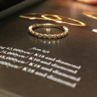 カナルヨンドシー(canal4℃)の【販売証明書有】カナル4℃ 可愛いピンキーリング K10(リング(指輪))