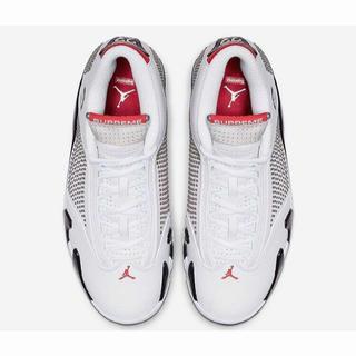 ナイキ(NIKE)のSupreme x Air Jordan 14 AJ Dunk Low 黒/白い(スニーカー)