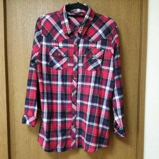 シマムラ(しまむら)の大きいsize☆赤チェックシャツ(シャツ/ブラウス(長袖/七分))