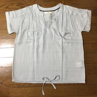イッカ(ikka)の値下げ‼︎美品‼︎半袖 ストライプスキッパーシャツ(シャツ/ブラウス(半袖/袖なし))