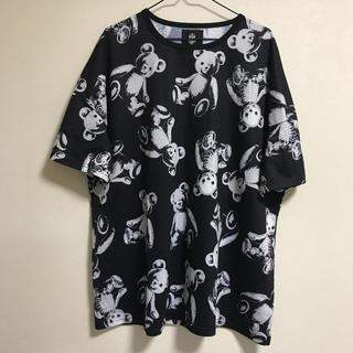 ファンキーフルーツ  ドラッグハニー  スケルトンテディビッグTシャツ ブラック