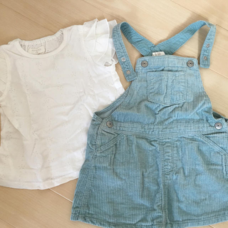 H&M - Tシャツ&コーディロイサロペット