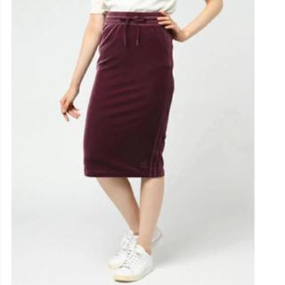 アディダス(adidas)のアディダスオリジナルス 3本線 ベロアタイトスカート(ロングスカート)