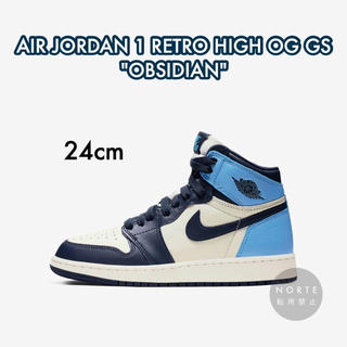 ナイキ(NIKE)の【新品/24cm】NIKE AIR JORDAN 1 HIGH OG GS(スニーカー)