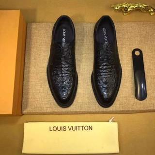 ルイヴィトン(LOUIS VUITTON)のルイヴィトン モンソー・リシュリュー ワニ革シューズ ブラック(その他)
