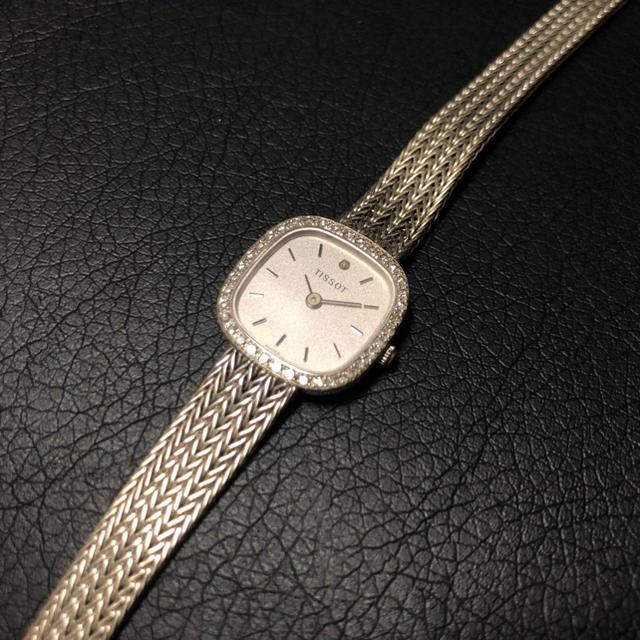 TISSOT - TISSOT【ティソ】K18WG 750 ホワイトゴールド ダイヤモンド 腕時計の通販 by ★T-B-S★|ティソならラクマ