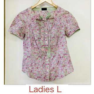 ポールスミス(Paul Smith)の【Paul Smith/ポールスミス】ピンクの花柄半袖ブラウス40(シャツ/ブラウス(半袖/袖なし))