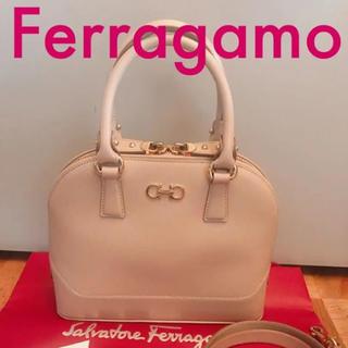 フェラガモ(Ferragamo)の【フェラガモ】定価16万円 ピンクベージュ 2wayハンドバッグ(ハンドバッグ)