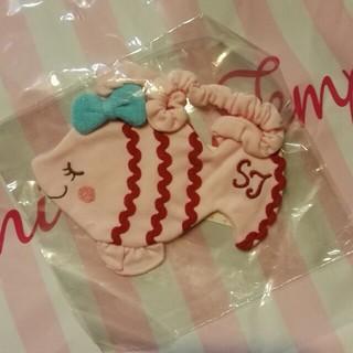 シャーリーテンプル(Shirley Temple)の新品 シャーリーテンプル お魚スタイ ピンク赤(ベビースタイ/よだれかけ)