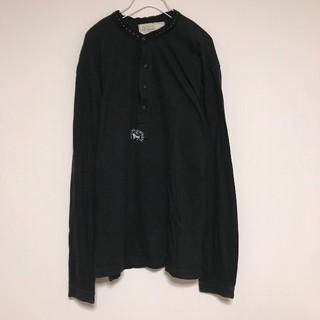 ポロラルフローレン(POLO RALPH LAUREN)のポロ ラルフローレン ロンT 長袖Tシャツ ヘンリーネック 黒 ブラック(Tシャツ/カットソー(七分/長袖))