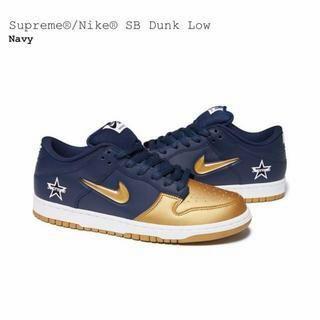 ナイキ(NIKE)の27.5cm Supreme / Nike SB Dunk Low 黒/シルバー(スニーカー)