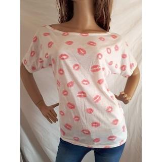 アナップラティーナ(ANAP Latina)のANAP LATINA リップ ドルマントップ Tシャツ 白 唇  (Tシャツ(半袖/袖なし))