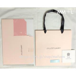 ジルスチュアート(JILLSTUART)の新品 MM ジルスチュアート プレゼントボックス ショッパー メッセージカード(ラッピング/包装)