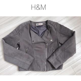エイチアンドエム(H&M)のH&M ✩.*˚ ライダース風ジャケット (グレー)(ジャケット/上着)