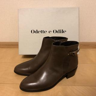 Odette e Odile - 新品未使用 odette e odile オデットエオディール本革ショートブーツ
