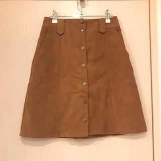 ミスティック(mystic)のミスティック スカート キャメル サイズ1 美品(ひざ丈スカート)