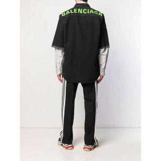 バレンシアガ(Balenciaga)の新品正規品 BALENCIAGA バレンシアガ バックロゴ デニムシャツ 40(シャツ)