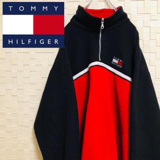 トミーヒルフィガー(TOMMY HILFIGER)の【かわいい♡】超希少USA製 OLD TOMMY フリースハーフジップトレーナー(スウェット)