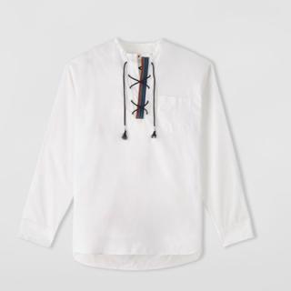 マルニ(Marni)のmarni   19SS    レースアップシャツ   ホワイト(シャツ)