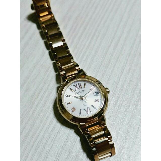 CITIZEN - シチズンXC腕時計 レディース ソーラー電波エコドライブ クロスシー ゴールド調の通販 by もんちゃ's shop|シチズンならラクマ