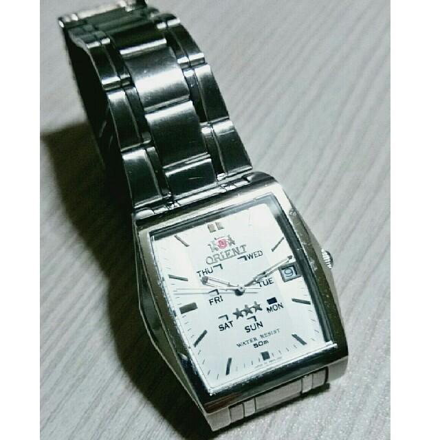 ORIENT - オリエント 腕時計 スリースター メンズ デイデイト 自動巻き オートマチック式の通販 by もんちゃ's shop|オリエントならラクマ