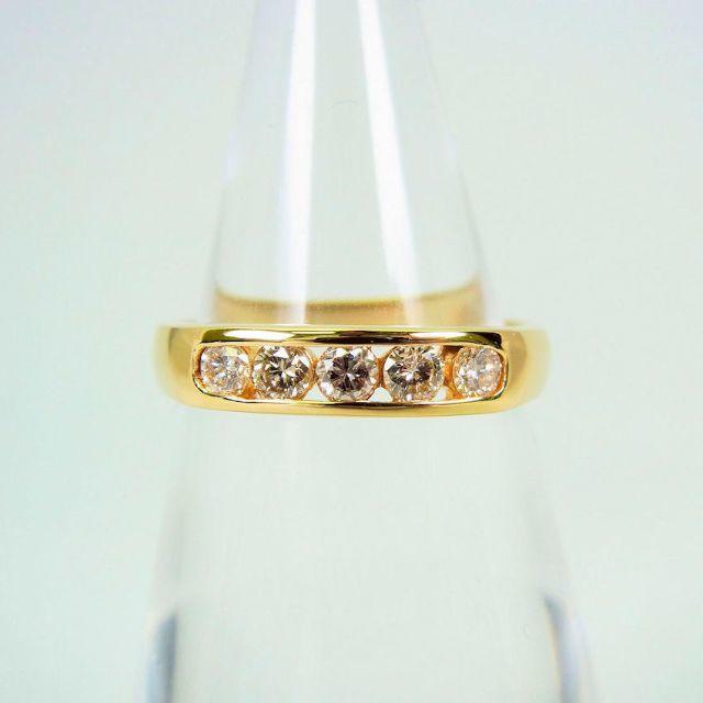 K18 ダイヤモンド リング 8号[f49-20]  レディースのアクセサリー(リング(指輪))の商品写真