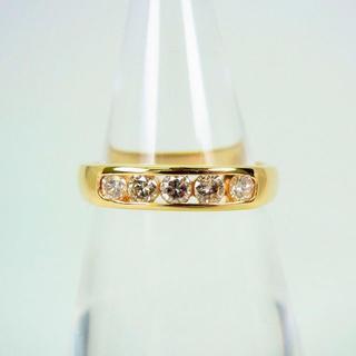 K18 ダイヤモンド リング 8号[f49-20] (リング(指輪))