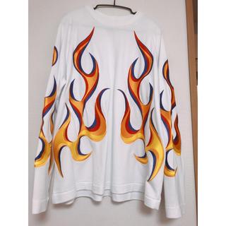 Études studio flame pattern(Tシャツ/カットソー(七分/長袖))