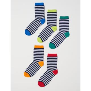 エイチアンドエム(H&M)の専用⚫︎H&Mソックス5足セットキッズボーイズ男の子ボーダー(靴下/タイツ)