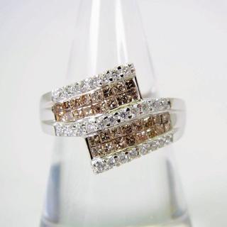 K18WG ダイヤモンド リング 14号[f49-2](リング(指輪))