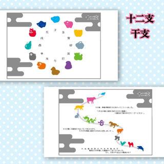 十二支 干支 暦 国語 知育教材 幼児教育(知育玩具)