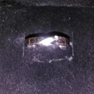 ヴィー(vie)のsilverステンレスメレダイヤリングVie(リング(指輪))