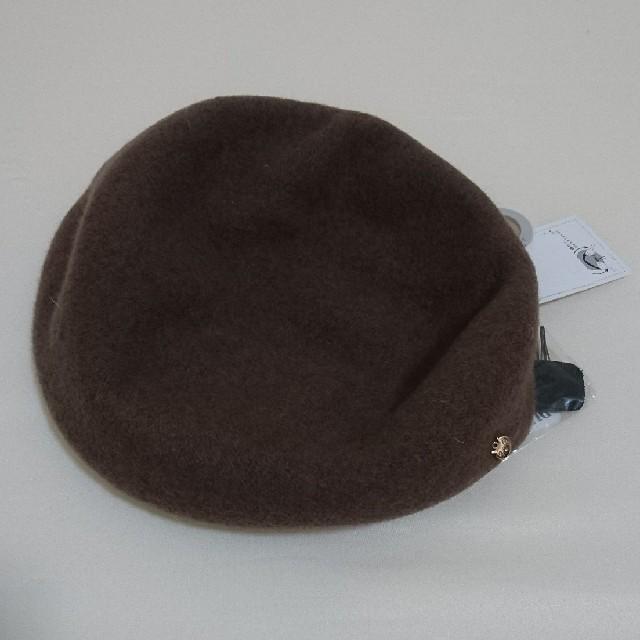しまむら(シマムラ)のプチプラのあや しまむら ベレー帽 ブラウン レディースの帽子(ハンチング/ベレー帽)の商品写真