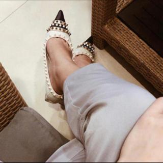 エイミーイストワール(eimy istoire)の激レア♡Sサイズ♡eimy♡MALHIA K スタッズコンビローヒールパンプス♡(ローファー/革靴)