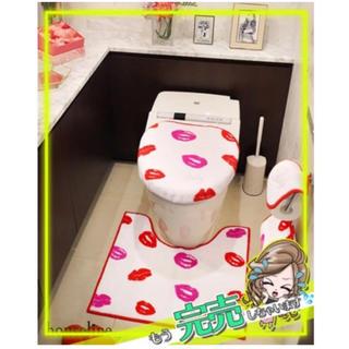 レディー(Rady)のRadyトイレ3点セット新品未使用リップ柄ホワイト(トイレマット)
